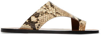 Atelier ATP Roma Snake-effect Leather Sandals - Snake print