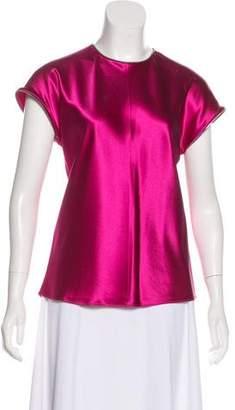 Helmut Lang Silk Short Sleeve Top