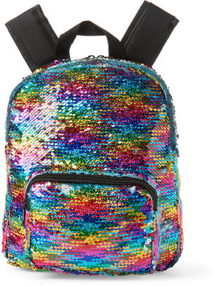 Olivia Miller Girl (Girls) Rainbow Sequin Backpack