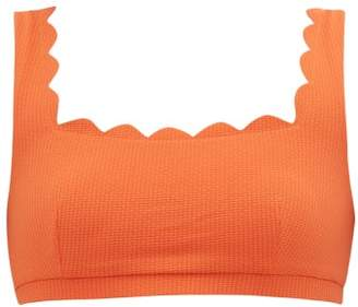 Marysia Swim Palm Springs Scallop Edged Bikini Top - Womens - Orange