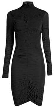 Diane von Furstenberg Olivia Ruched Turtleneck Dress