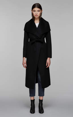 Mackage MAI BELTED WOOL COAT WITH WATERFALL COLLAR