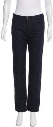 Marni Quilted Mid-Rise Jeans