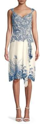 Elie Tahari Sleeveless Floral Printed Dress