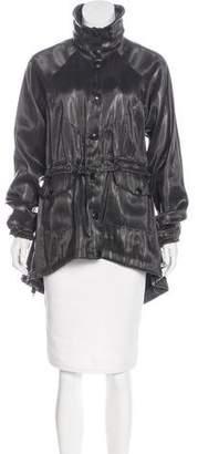 Fendi Mock Neck Knee-Length Coat