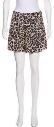 Alice + Olivia Leopard Print Mini Shorts