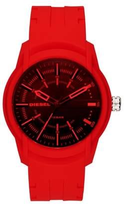 Diesel R) Armbar Silicone Strap Watch, 45mm