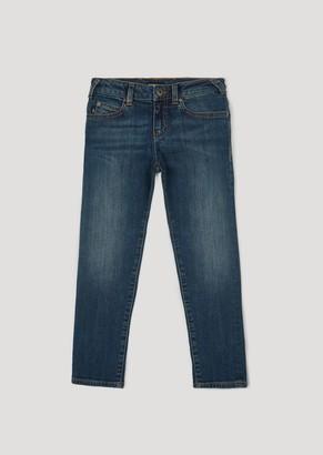 Emporio Armani Slim Fit Jeans In 11.5Oz Comfort Denim Cotton