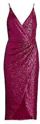 Jonathan Simkhai Women's Sequin Midi Wrap Dress