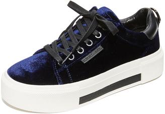 KENDALL + KYLIE Tyler Velvet Platform Sneakers $130 thestylecure.com
