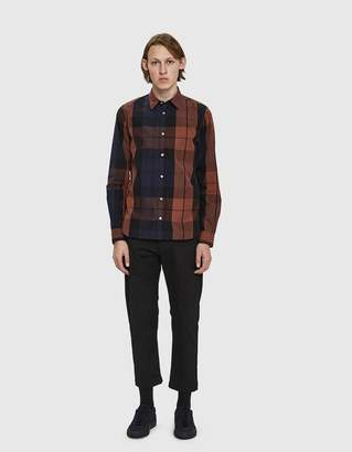 Norse Projects Hans Dry Touch Overcheck Shirt in Burnt Sienna