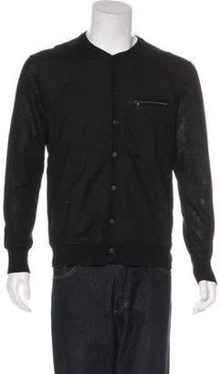 John Varvatos Knit Button-Up Cardigan