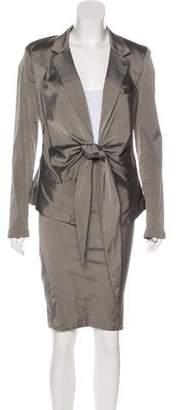 Donna Karan Silk-Blend Skirt Suit