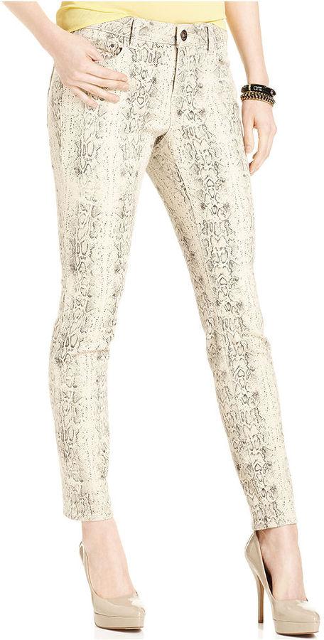 DKNY Jeans, Skinny Snakeskin-Print