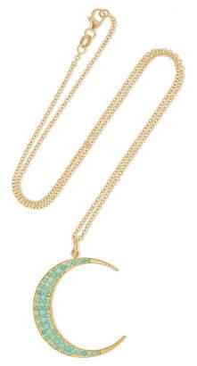 Andrea Fohrman Luna 18-karat Gold Turquoise Necklace