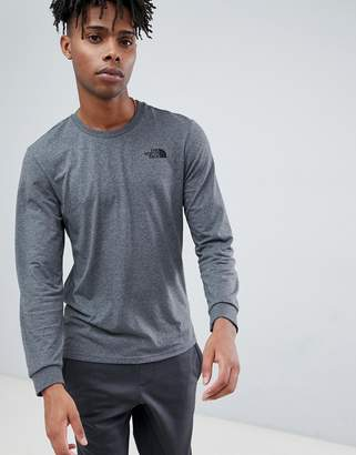 The North Face Long Sleeve Simple Dome T-Shirt in Grey