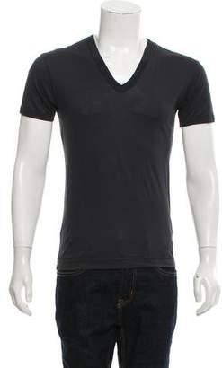 Dolce & Gabbana Short Sleeve V-Neck T-Shirt