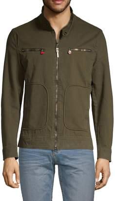 Ron Tomson Full-Zip Cotton Blend Jacket