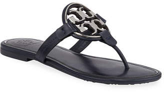 5f38c2ae2a7daa Tory Burch Miller Flat Metal Logo Slide Sandals