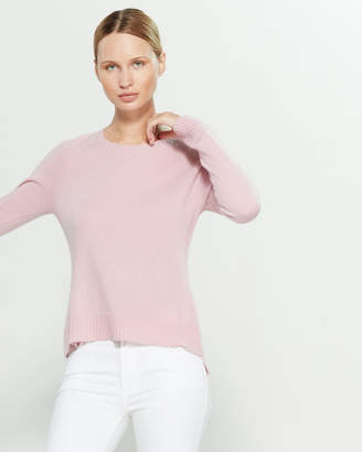 InCashmere In Cashmere Long Sleeve Cashmere Hi-Low Sweater