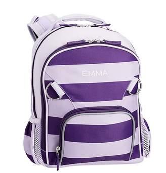 Pottery Barn Kids Fairfax Purple Rugby Stripe Lunch Bag