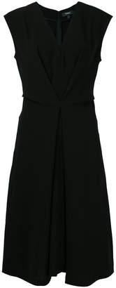Theory V-neck sleeveless midi dress