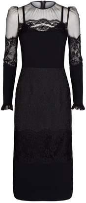 Dolce & Gabbana Lace Fitted Midi Dress