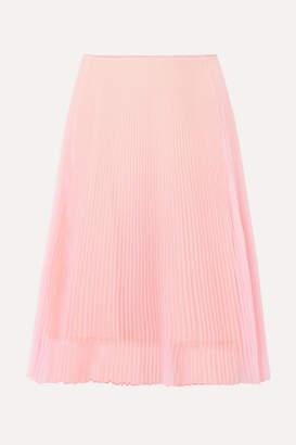 Prada Plissé-organza Skirt - Pastel pink
