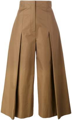 Fendi pleated wide-leg trousers
