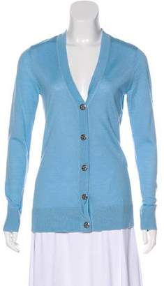 Tory Burch Merino Wool Long Sleeve Knit Cardigan