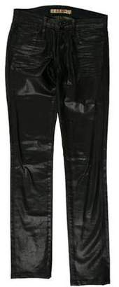 J Brand Coated Low-Rise Jeans