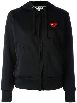 Comme des Garcons embroidered heart hoodie