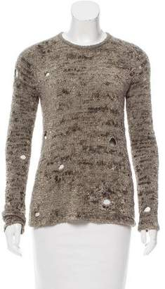 Alexander Wang Textured Long Sleeve Sweater