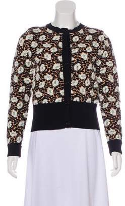 Marni Jacquard Button-Up Cardigan