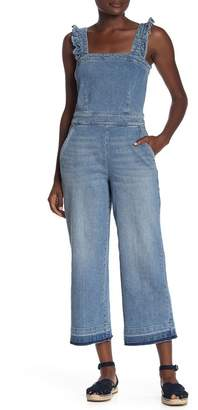 Blank NYC BLANKNYC Denim Ruffle Strap Jean Overalls