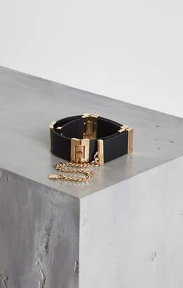 BCBGMAXAZRIA Faux-Leather Patchwork Chain Belt