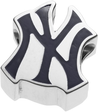 New York Yankees Logoart LogoArtSterling Silver Bead