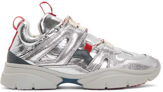 Isabel Marant Silver Kindsay Mountain Sneakers