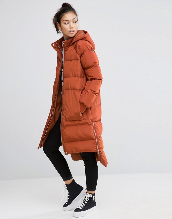 AsosASOS Puffer Coat with Step Hem
