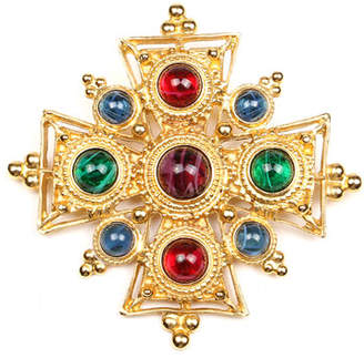 Ben-Amun Multicolor Cross Brooch