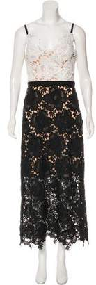 Catherine Deane Sleeveless Lace Maxi Dress w/ Tags