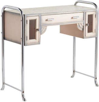 Rejuvenation Pink and Chrome Airbrushed Art Deco Beautician's Stand