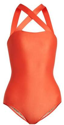 Adriana Degreas - Cross Front Swimsuit - Womens - Red