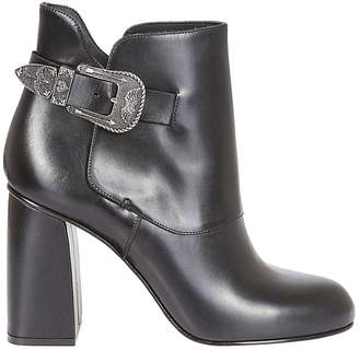 RED Valentino Side Buckle Embellished Boots