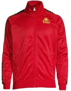 Kappa Men's Authentic Egisto Track Jacket - Burgundy - Size Large