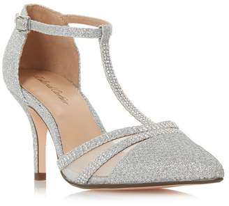 6160b0ac7ee at Debenhams · Cartier Roland Silver  Dennice  Mid Stiletto Heel T-Bar  Sandals