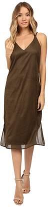 Brigitte Bailey Hadley Spaghetti Strap Micro Suede Dress Women's Dress