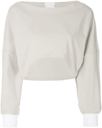 Lost & Found Rooms long-sleeve crop sweatshirt