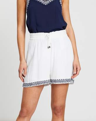 Vero Moda Houston Embroidered Shorts