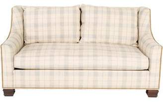Co Hickory Chair Furniture Plaid Upholstered Sofa